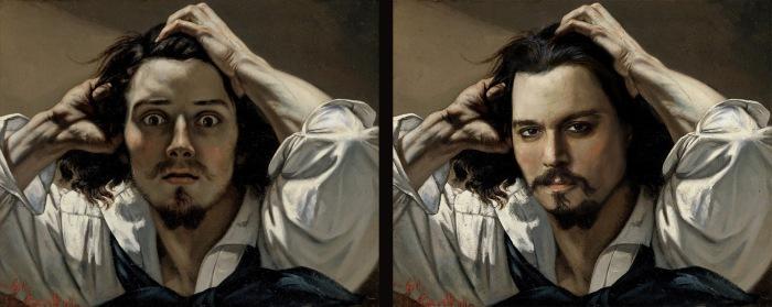Johnny Depp et Gustave Courbet